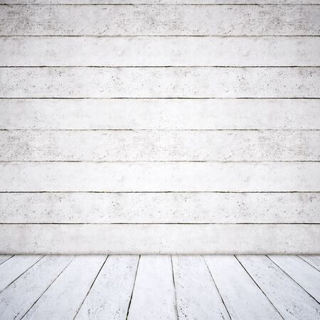 Concept or conceptual solid and white rough background of concrete floor and wall as a vintage pattern layout. A 3d illustration metaphorfor minimalism, time and material
