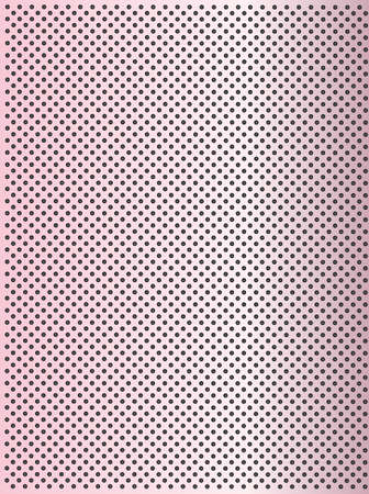 High resolution concept conceptual pink metal stainless steel aluminium perforated pattern texture mesh background Banco de Imagens