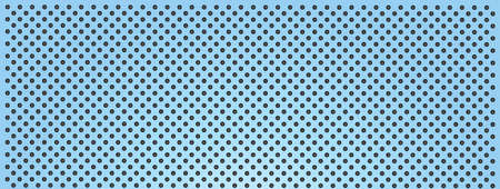High resolution concept conceptual blue metal stainless steel aluminium perforated pattern texture mesh banner background