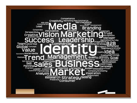 Concept or conceptual abstract word cloud on blackboard background