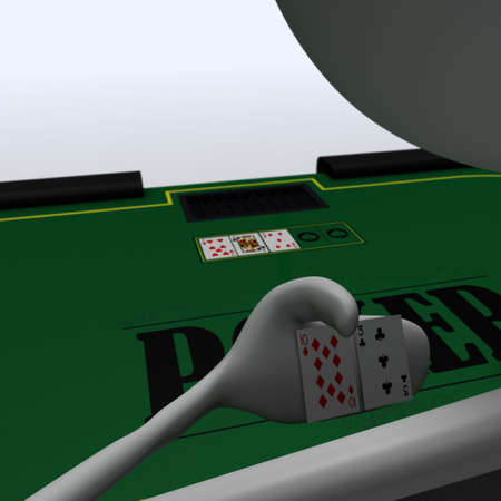 bmwa: a figure is playing poker at the table Stock Photo