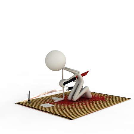 bmwa: a figure does the Suppuku with a Tanto