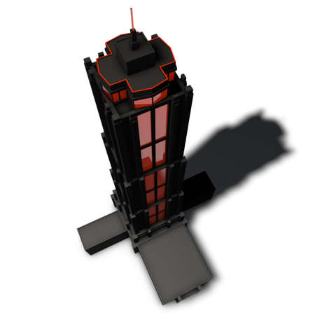 symbolize: a pictogram of a skyscraper to symbolize architectural visualization