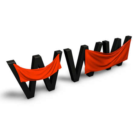 a pictogram to symbolize banner advertising for the www