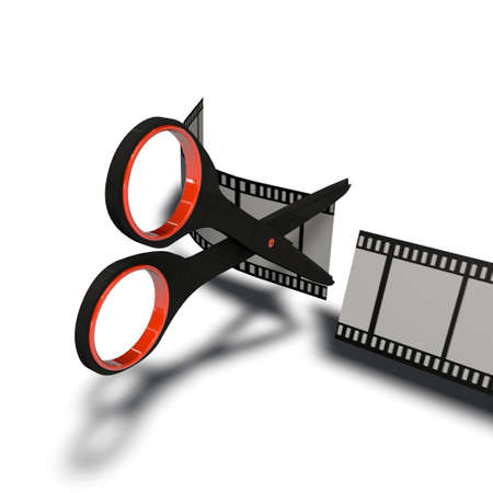 a pictogram to symbolize video cutting and editing Stock Photo