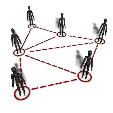solidaridad: un pictograma para simbolizar affliliate comercializaci�n y la ramificaci�n Foto de archivo