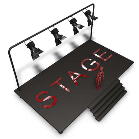 bmwa: a pictogram of a stage to symbolize eventmarketing