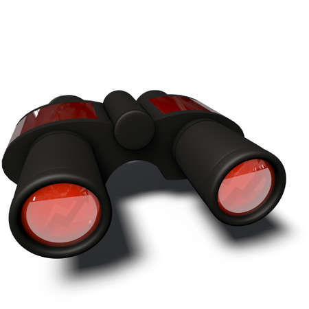 a pictogram of binoculars to symbolize media planning Stock Photo