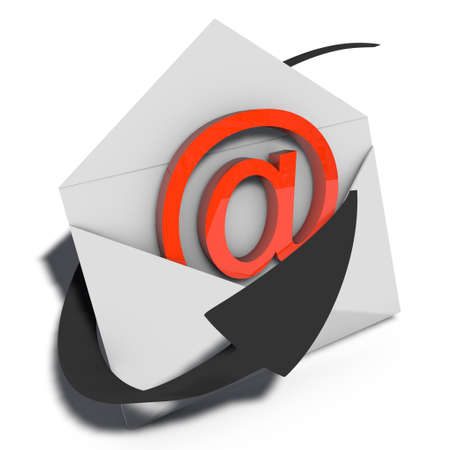a pictogram to symbolize email marketing and sending photo