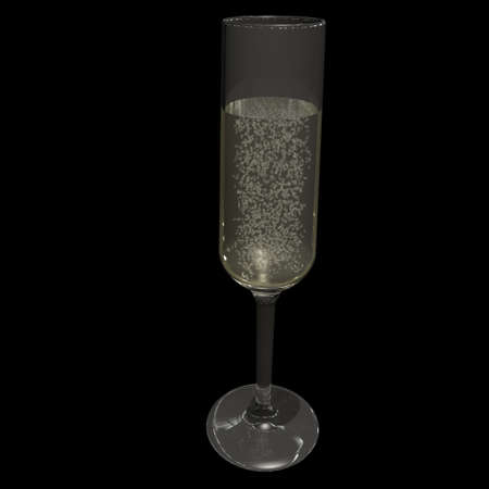 symbolize: a pictogram to symbolize corporate events - champagne glass Stock Photo