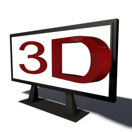 a pictogram to symbolize realtime 3d object Stock Photo - 13148742