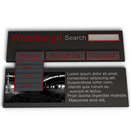 a pictogram to symbolize webdesign - red website photo
