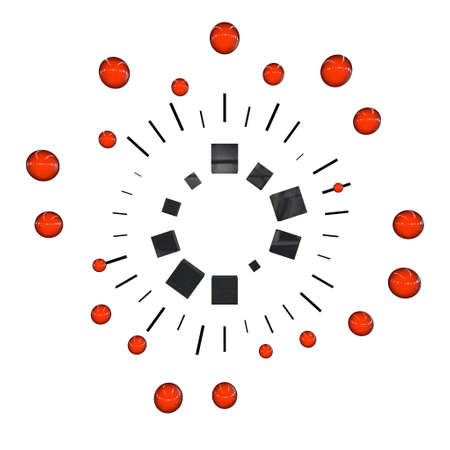 a pictogram to symbolize motion graphics - red photo