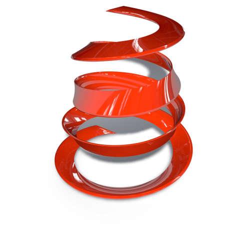 a pictogram to symbolize design - red spiral