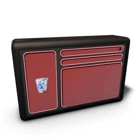 a pictogram to symbolize gui design - red photo