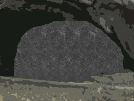 a stereogram where you can detect a skull with the right view Stock Photo