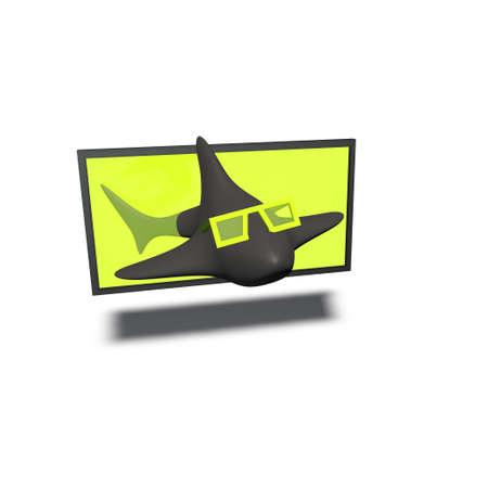 a pictogram to symbolise a 3d-compatible tv set Stock Photo - 13146992