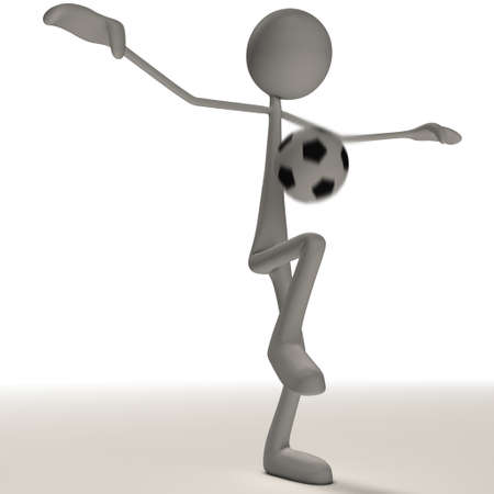 a figure is juggling a football with its feet Stock Photo - 13147016