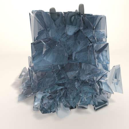 bmwa: a figure is frozen in an ice cube that is breaking
