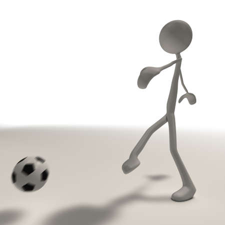 bmwa: a figure is doing a shot with a football