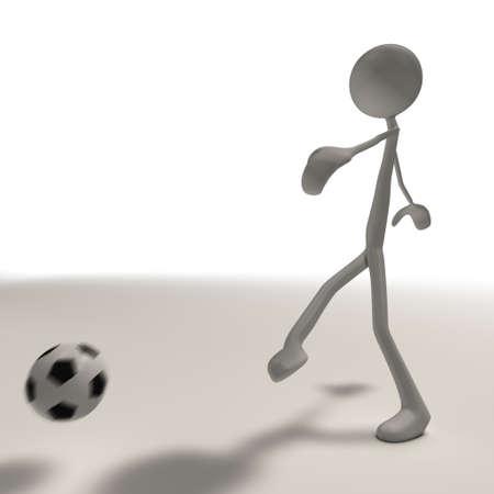 Rysunek wykonuje strzał z piłki nożnej Zdjęcie Seryjne - 13147074