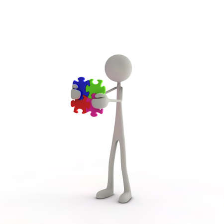 a figure is holding a puzzle piece in his hands