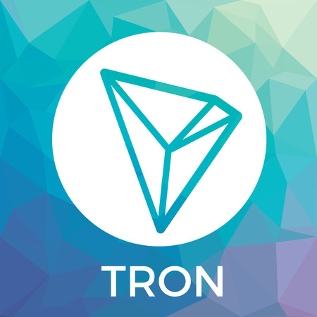 Tron decentralized blockchain In-app-purchases payments cryptocurrency vector logo.