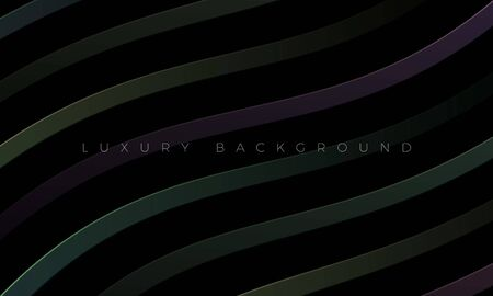 Luxury Premium wallpaper and modern dark background illustration with stylish color curved lines and elements. Rich black abstract background for header, website template, landing page, banner.