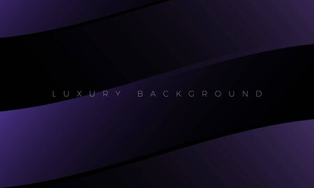 Premium Luxury dark purple background and wallpaper illustration. Modern black background with stylish curved elements. Rich abstract design for header, website template, landing page, banner.