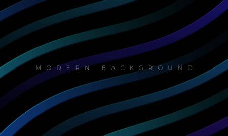 Modern Premium background  and luxury dark neon wallpaper illustration with stylish color curved lines and elements. Rich black abstract background for header, website template, landing page, banner.