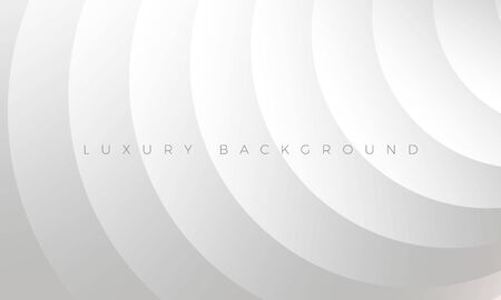 Modern silver grey background with stylish curved elements. Premium Luxury light white-gray wallpaper and background illustration. Rich abstract design for header, website template, landing, banner.