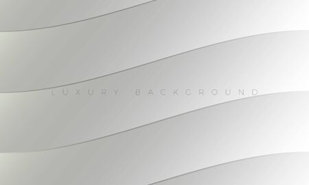 Premium Luxury light white-gray background and wallpaper illustration. Modern silver background with stylish curved elements. Rich abstract design for header, website template, landing page, banner.