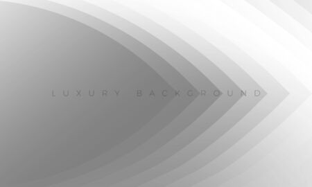 Premium silver grey background with stylish curved elements. Modern Luxury light white-gray wallpaper and background illustration. Rich abstract design for header, website template, landing, banner.