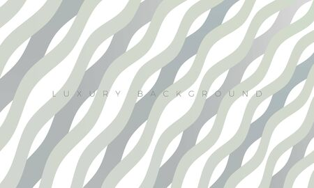 Premium white-grey background with stylish curved lines. Modern Luxury light waves wallpaper and background illustration. Rich abstract design for header, website template, landing, banner. Ilustração