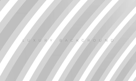 Premium silver grey background with stylish curved modern elements. Luxury light white-gray wallpaper and background illustration. Rich abstract design for header, website template, landing, banner.