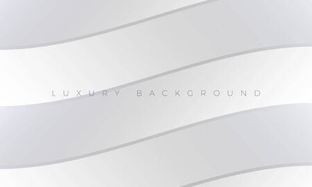 Modern Luxury light white-gray background and wallpaper illustration. Premium silver background with stylish curved elements. Rich abstract design for header, website template, landing page, banner.