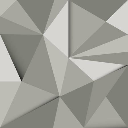 rough diamond: Dark grey abstract polygonal background vector
