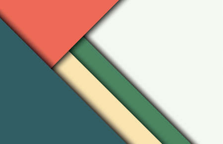 visualize: Abstract modern shape material design style. Illustration