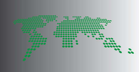 dotted: Dotted world map Illustration