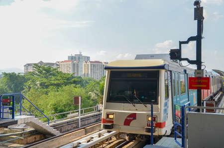 kl: Kuala Lumpur, Malaysia - October 4, 2013:A Rapid KL LRT Metro Train in Kuala Lumpur Malaysia Editorial