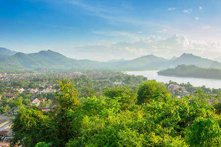 viewpoint: Viewpoint and landscape in luang prabang, Laos.