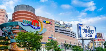 福岡市、日本 - 2014 年 6 月 29 日: キャナルシティ博多が大規模なショッピング、エンターテイメントの複合施設福岡県です。 報道画像