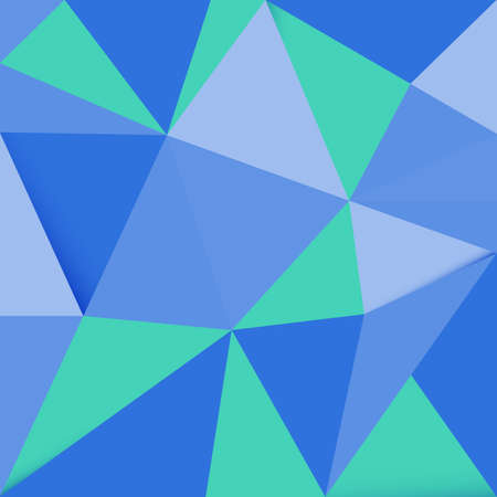 blue green background: Abstract blue green polygonal background