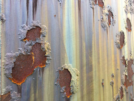 galvanized: Cracked and peeled metal with rust texture