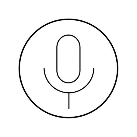 amplification: Microphone minimal style Icon vector Eps10 Illustration