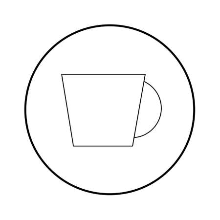long bean: Cup minimal style Icon vector Eps10 .
