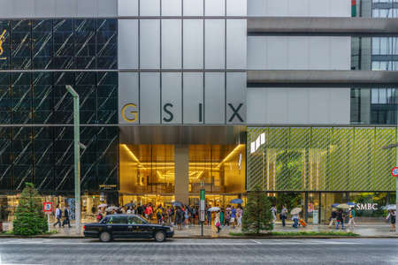 TOKYO , JAPAN  - July 26, 2017 : Ginza Six Complex (GSIX)  . the new department store, which will be opened in Giza district in Tokyo, Japan Editorial