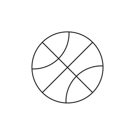 Basketball icon illustration in black and white Ilustrace