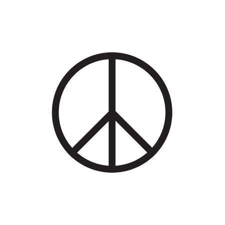 Peace Symbol Vector Icon EPS10 Illustration