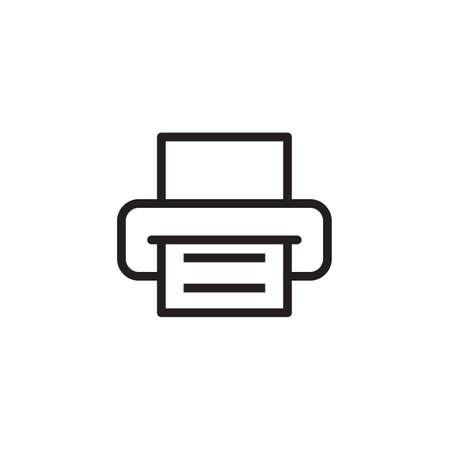 Icono de impresora ilustración vectorial